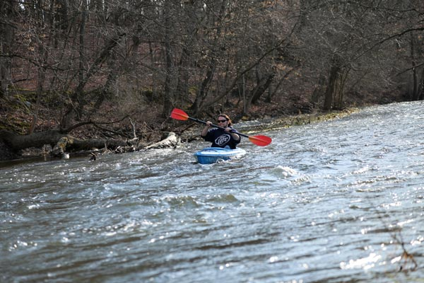 Kayaking on the White River outside Lake Geneva is NOW